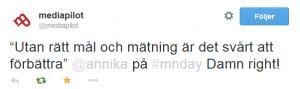 """2014-10-21 14_04_40-mediapilot på Twitter_ _""""Utan rätt mål och mätning är det svårt att förbättra"""" @"""
